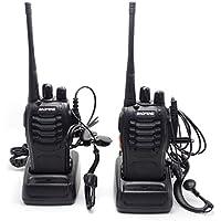 BAOFENG BF-888S UHF FM Transceiver High Illumination Flashlight Walkie Talkie Two-Way Radio+2 Earphone from NSKI (2pcs)