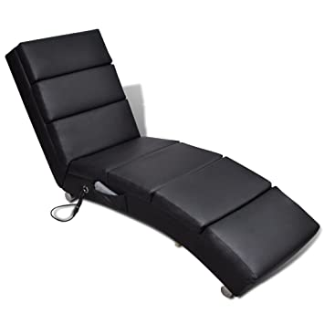 XINGLIEU Camilla de Masaje Piel sintética Relax sillón Negro ...