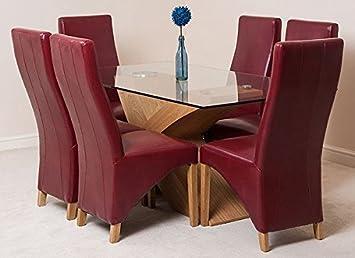 modern furniture direct valencia glass oak effect base dining rh amazon co uk modern furniture direct to consumer modern furniture direct oldbury