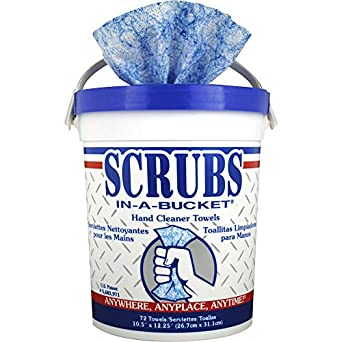 Scrubs 42272CT in-A-Bucket Hand Cleaner Towels, 6 EA
