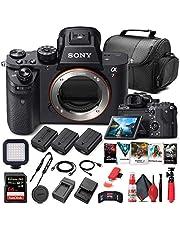 Sony Alpha a7R II Mirrorless Digital Camera (Body Only) (ILCE7RM2/B) + 64GB Memory Card + Corel Photo Software + Case + 2 x NPF-W50 Battery + Card Reader + LED Light + More (Renewed)