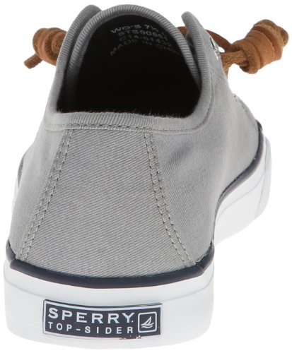 US Sneaker Fashion Sider M Top Sperry Seacoast Grey 8 Women's qwRHWzBO