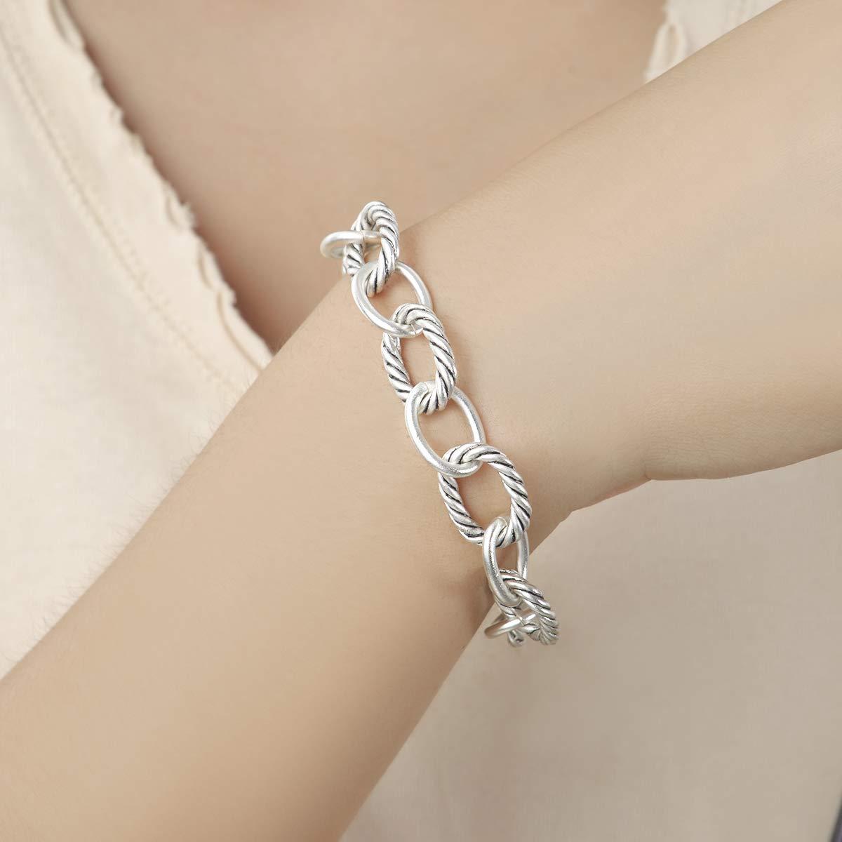 UNY Bracelet Designer Brand Inspired Antique Women Jewelry Cable Wire Vintage Valentine