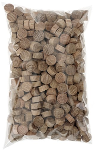 Cindoco G3893 1/234; Oak Flat Screw Plugs, 500 pc.