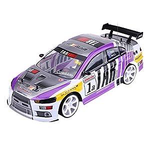 Alomejor1 RC Drift Car 1/10 Four-Wheels Drive High Speed Radio Control RC Car Remote Control Car Children Gift