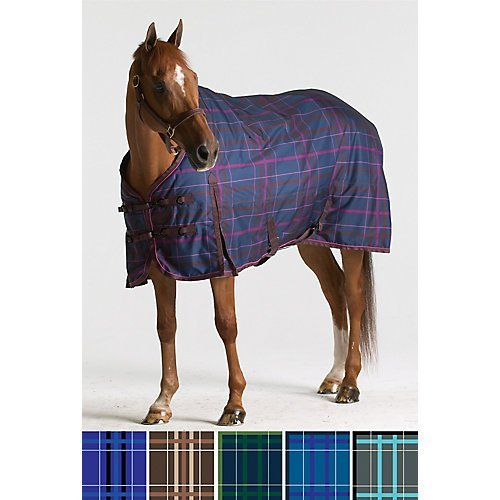 (Pessoa 1200D Turnout Sheet 72 Clay/Teal Plaid)