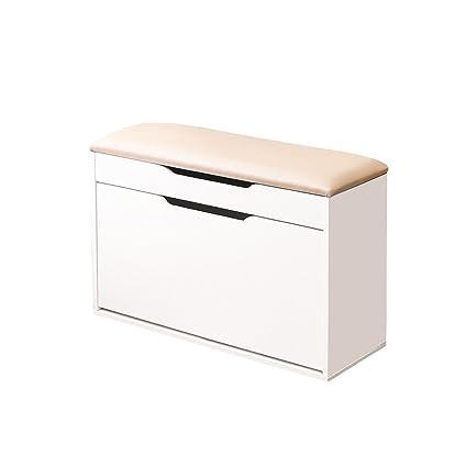 Color Blanco 35 HomeKraft Finnes banco de almacenamiento de zapatos ...