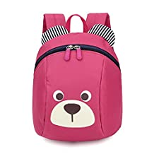 Baby 1-3 Toddler Backpack Anti-lost Kids Bags Cute Animal Dog Children Backpackpink^^^pink