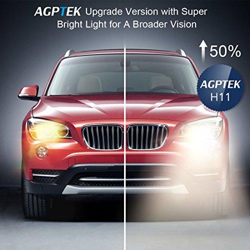 AGPTEK H11 Halogen Xenon Headlight Bulbs, 2 Pack by AGPTEK (Image #5)