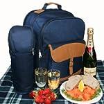 Picnic Backpack Set 4 Flask Mugs Rug...