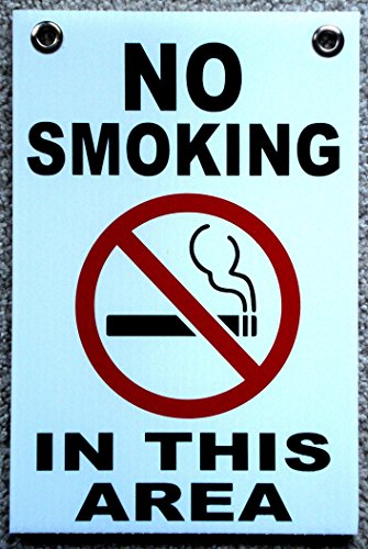 1 Pc Hair-raising Unique No Smoking in This Area Sign Outdoor Decal Warning Message Indoor Declare Not Allowed Stickers Window Businesses Doors Plastic Sticker Windows Home Size 8