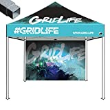 Eurmax Basic 10×10 Ez Pop up Canopy Custom Tent Imprinted Tent with Backwall Bonus Roller Bag