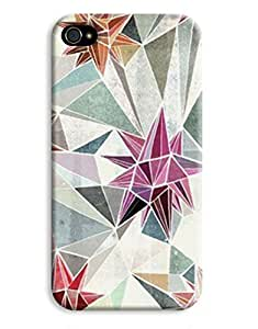 Geometric Triangle Pastel Pattern iPhone 4 4S Hard Case Cover