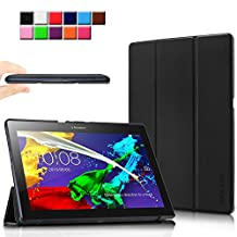 Infiland Lenovo Tab 2 A10 / Lenovo Tab 10 TAB-X103F Case, Ultra Slim Lightweight Tri-Fold Cover for Lenovo Tab2 A10 / TAB-X103F Tab 10 / Tab3 10 Business Tablet, Black