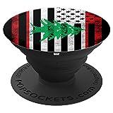 Lebanese American Flag Distressed Design