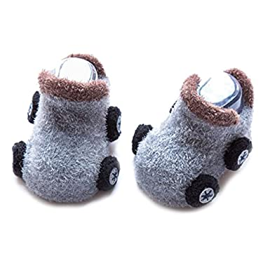 Qiyuxow Unisex Baby Funny Car Shape Socks Anti-slip Cotton Winter Shoe Socks Crew Walker Stockings
