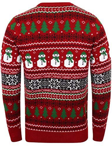 Seasons Natalizio maglioncino Red Snow Paper Natalizie Uomo Christmas Greetings Da rISxwHUrX