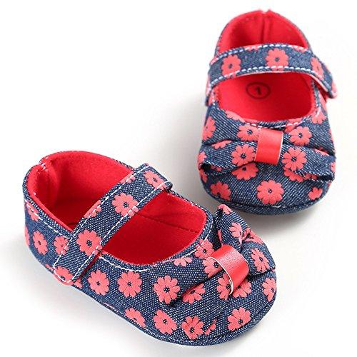 Pueri Zapatos del bebés hembras Zapaticos agradables Zapatos Para los primeros pasos Rojo