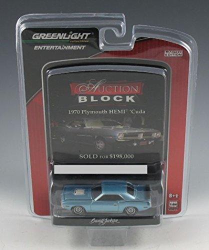 Auction Block Series - Greenlight Barrett Jackson Auction Block-1970 Plymouth Hemi Cuda Hardtop (1/64 Scale)- Series 9