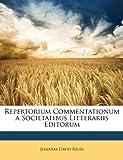 Repertorium Commentationum a Societatibus Litterariis Editorum, Jeremias David Reuss, 117459120X