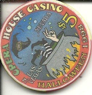 $5 opera house halloween 1998 las vegas casino chip super rare