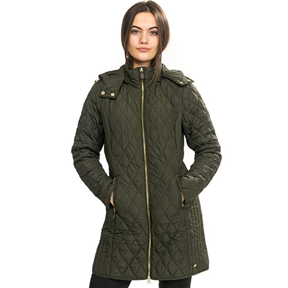 Joules Womens Chatham Long Length Warm Padded Quilted Coat