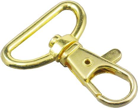 20 Pcs 1 25mm Swivel Clips Hook Snap Trigger Lanyard D Ring Buckles Craft Metal Nickle