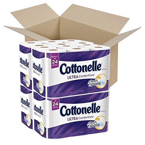 Cottonelle Ultra ComfortCare Toilet Paper, 48 Double Rolls, Strong & Soft Bath Tissue (Paper Double Toilet Cottonelle Roll)