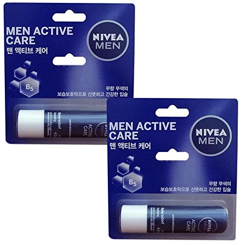 Nivea for Men Active Care - Nivea Lip Care 0.17oz