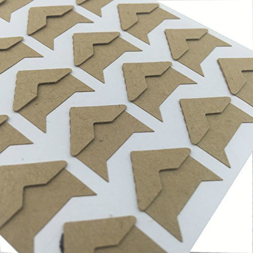 10 Sheets Self Adhesive Paper Photo Foto Corner Stickers For Scrapbooking, Personal Journal & Diary Adhesives (Kraft) by PIPIHUA