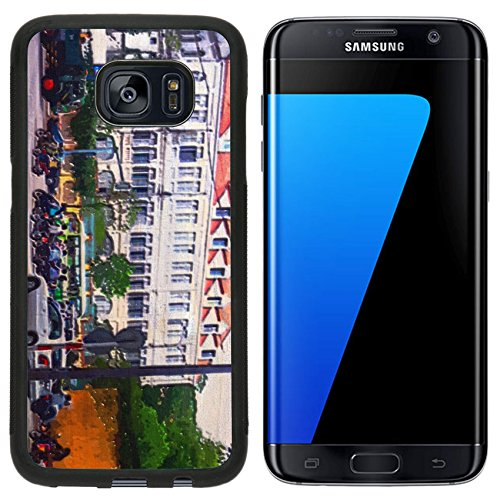 Liili Samsung Galaxy S7 Edge Aluminum Backplate Bumper Snap Case original oil painting of traffic in city of saigon veitnam Photo (Saigons Edge)