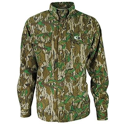 Mossy Oak Cotton Mill Hunt Shirt - Greenleaf