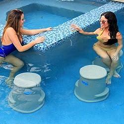 Pool Seat | Swim Up Bar Stool- Liquidseat-Sandstone Granite