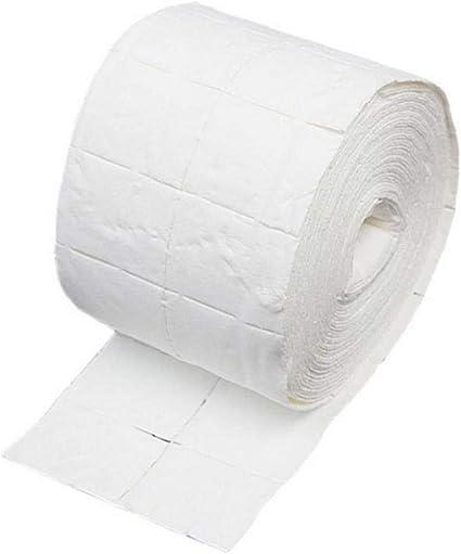 500pcs removedor de esmalte de uñas de gel Toallitas fibra de algodón blocs de papel del arte del clavo de la manicura de limpieza Toallitas Blanca: Amazon.es: Belleza