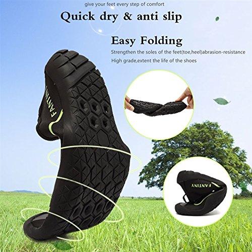 CIOR Wasser Schuhe Für Frauen Männer Outdoor Sport Slip On Multifunktionale Turnschuhe 12 Löcher Drainage System Quick Dry A4g.black