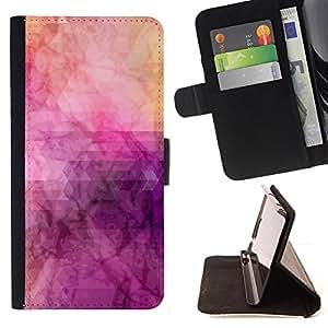 - Purple Smoke Floral Watercolor - Estilo PU billetera de cuero del soporte del tir???¡¯???3n [solapa de cierre] Cubierta- For Samsung Galaxy S4 Mini i9190 ( Devil Case )