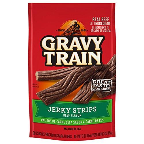 Gravy Train Jerky Strips Dog Snacks, 3 Oz (Pack Of 12)