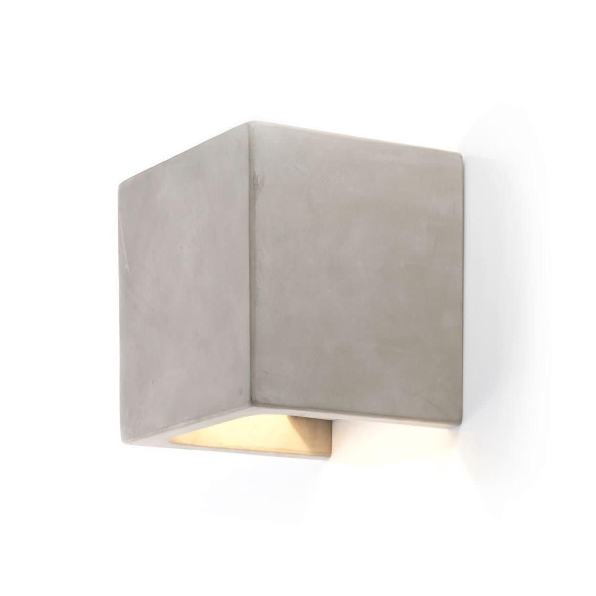 IMPRESSIONEN living Wandleuchte Cube - modern Beton - versteckte Wandhalterung - Beton modern - Metall 0fa917