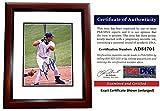 Signed Cabrera Photo - Miami 8x10 inch MAHOGANY CUSTOM FRAME 2003 World Series Champion 2x MVP Certificate of Authenticity COA) - PSA/DNA Certified