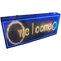 1.7 x 5.1 Double Sided Full Color Programmable LED Sign Outdoor RGB Wireless LED Display