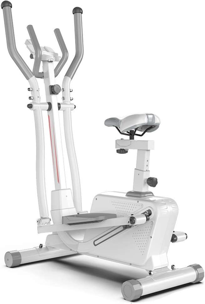 YXRPK Máquina De Correr Elíptica Bicicleta Bicicleta Ergómetro, Quemador De Grasa De Alta Eficiencia, Asiento Ajustable, Volante Silencioso Bidireccional con Control Magnético