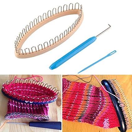 Chenxi tienda 32 Peg calcetines de lana para tejer en telar DIY Craft tejido de madera