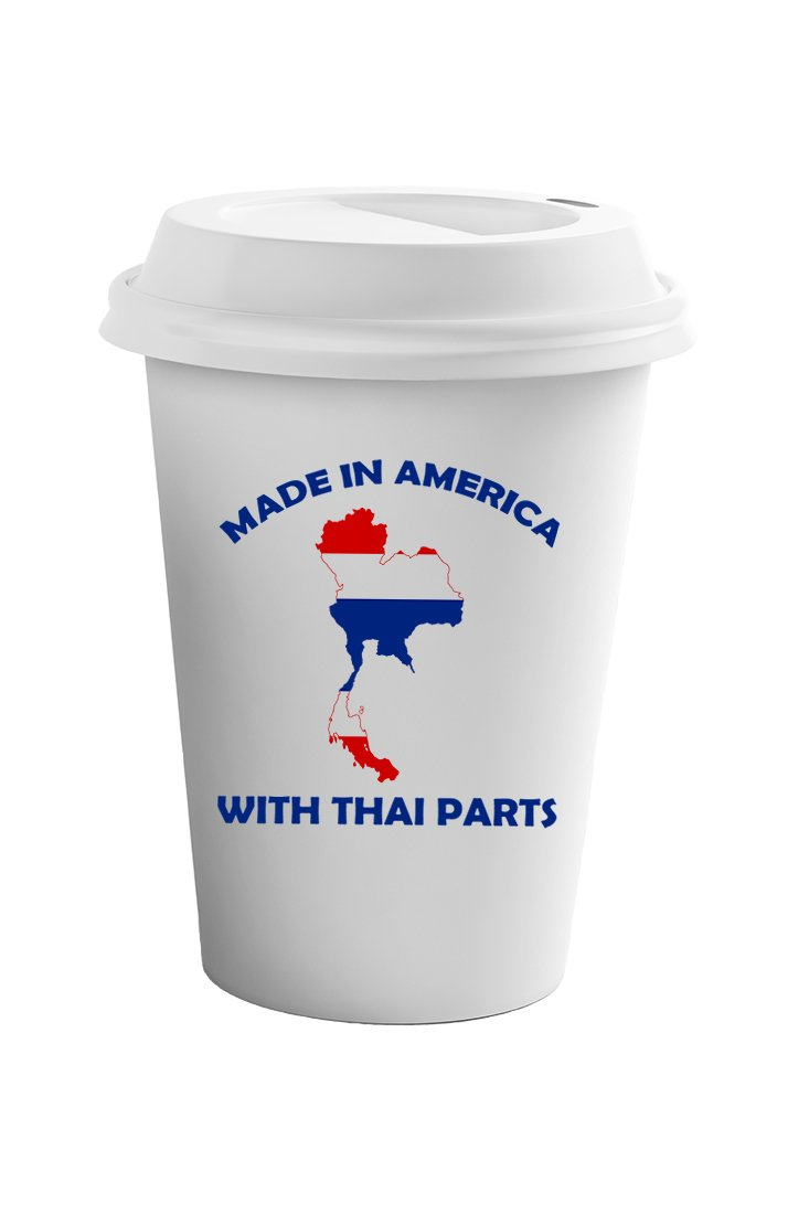 Style In Print Made In America With Thai Parts Coffee Ceramic Travel Tumbler Mug 11oz