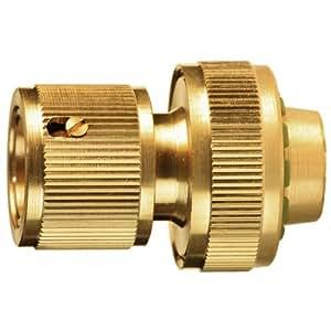 Sanifri 470010103 - Conector para manguera (con válvula, 3 bolas de cobre, 19,1 mm)