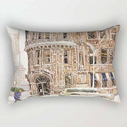(Bestseason Throw Christmas Pillow Covers Of Watercolor For Girls Office Gril Friend Indoor Car Seat Club 18 X 26 Inches / 45 By 65 Cm(2 Sides))