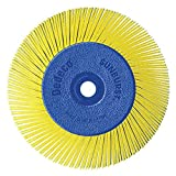 Dedeco Sunburst - 6'' TA Radial Bristle Discs - 1/2'' Arbor - Industrial Thermoplastic Rotary Cleaning and Polishing Tool, Coarse 80 Grit (1 Pack)