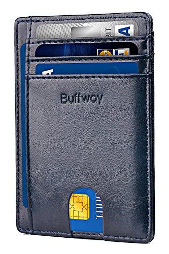 Slim Minimalist Leather Wallets for Men & Women - Alaska ()
