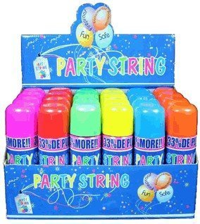 amazon com blue box party string not silly string 48 cans toys