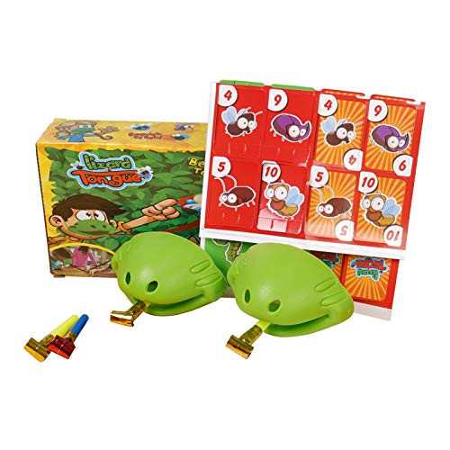 Tongue Catch Bugs Game, Tongue Desktop Game Funny Family Game Interactive Toys, Educational Toy Christmas Birthday Gift for Kids, Lizard Tongue Eating Pest Board Game for Family Gatherings