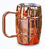 Premium Stainless Steel Beer Coffee Mug By Drinkware Essentials. 14oz Double Wall Insulated Copper Stein Won't Sweat & Keeps Cold Drinks Colder & Hot Drinks (Coffee & Tea) Hotter, Longer. Great Gifts!